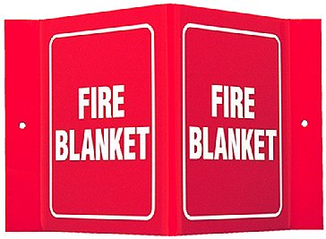 Fire Blanket Wall Angle Sign