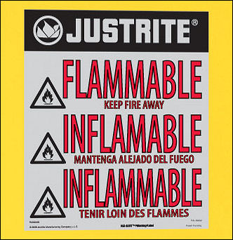 Reflective Flammable Label