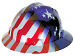 AMERICAN STARS & STRIPES FULL BRIM HARD HAT